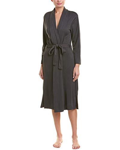 Natori Women's Brushed French Terry Robe, Anthracite, M (Robes French Terry)