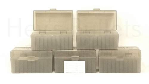 BERRY'S Plastic Ammo Box, Smoke 50 Round 243/308 (5)