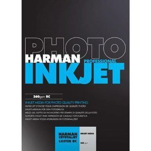 Harman Inkjet - Harman CrystalJet Luster RC Inkjet Paper, 260gsm, 8.5