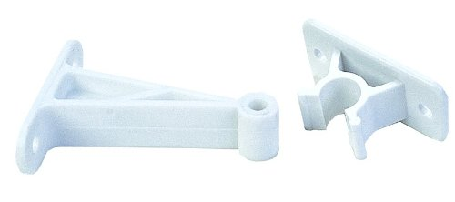 JR Products 10204 3 inch PW Plastic C-Clip Style Door Holder