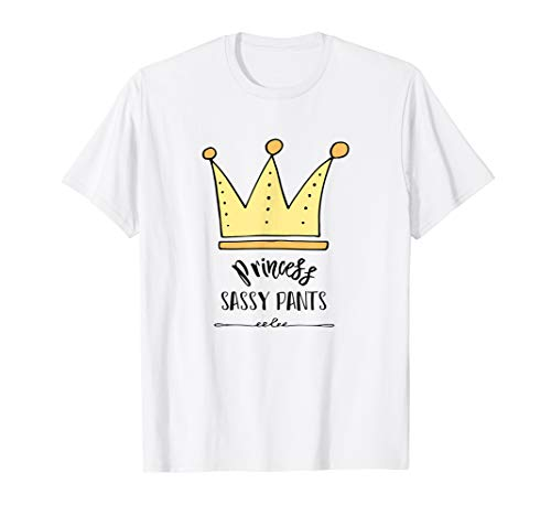 Cute Princess Sassy Pants Crown Kids T Shirt Adult T-Shirt -
