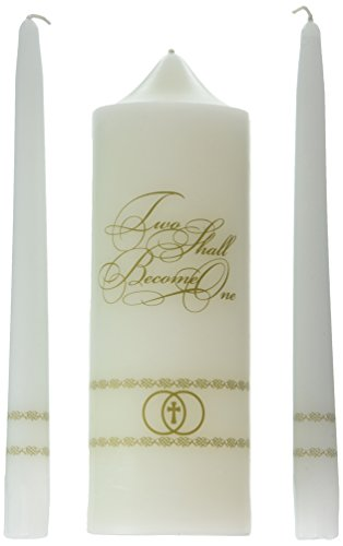 Two Shall Become One Unity Candle Set (7537-9) (Two Become Candle Unity One)