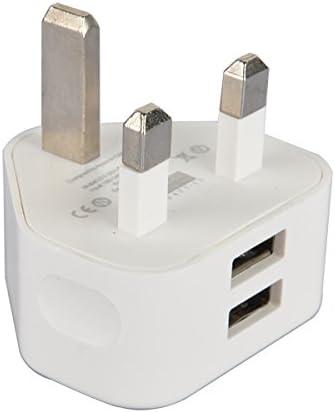 YATEK Adaptador de Enchufe UK a 2 Puertos USB, Ideal para Cargar Tus Dispositivos USB al Salir de Viaje: Amazon.es: Electrónica
