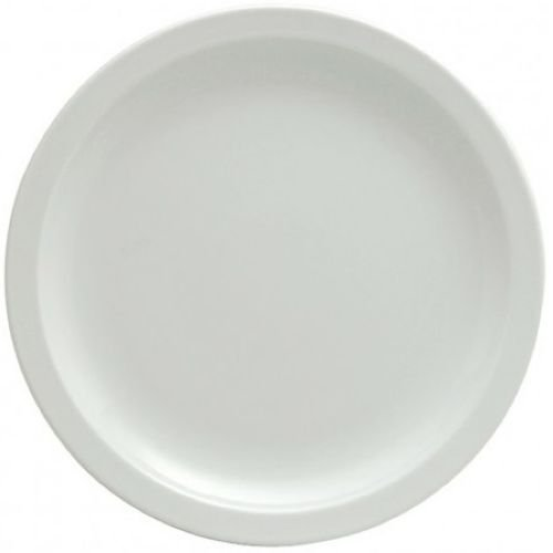 Oneida Buffalo Bright White Narrow Rim Plate, 7 1/4 inch - 36 per case.