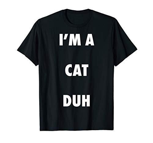 Easy Halloween Cat Costume Shirt for Men Women Kids]()