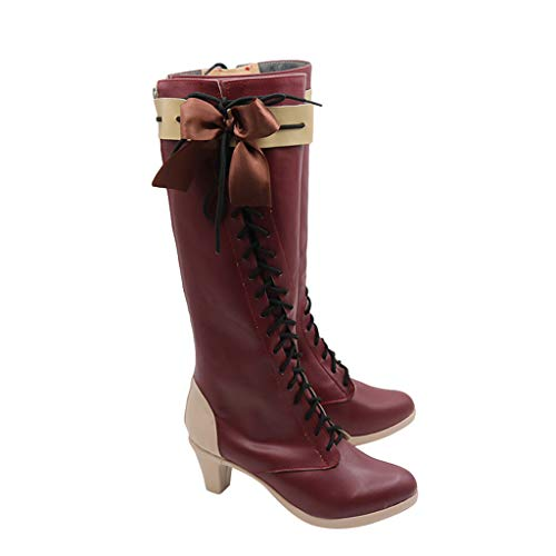 DUNHAO COS Violet Evergarden Female Leading Role Halloween Cosplay Shoes Boots Female US 7/EU38 -