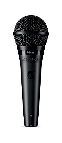 [해외] SHURE 다이나믹 보컬 마이크로 포스 폰 XLR케이블 부속 PGA58-XLR [국내 정규품]