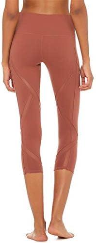 ヨガウェア ヨガパンツ高弾性速乾性ハイウエスト薄いランニングフィットネス女性ハイウエスト速乾性ランニングパンツおなかコントロールパワーストレッチヨガレギンス (色 : オレンジ, サイズ : M)