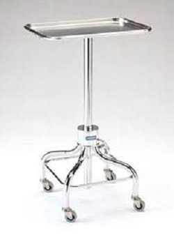 Chrome Instrument Stand w/ Stainless Steel Tray