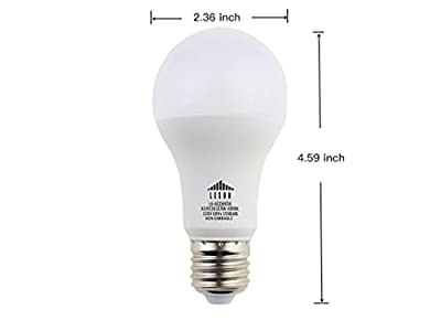 Leson 100 Watt Equivalent A19 LED Light Bulb Standard E26/E27 Base 13W Energy Saving, Daylight Cool White 6500k (6 Pack)