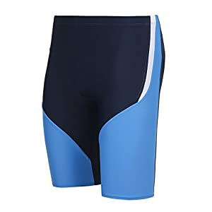 Ekouaer Men's Jammer Swimsuit Splice Swim Shorts Rapid Swim Trunks Quick Dry Bathing Suit 30-40 Size