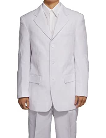 New Men's 3 Button Single Breasted White Dress Suit,36 Regular