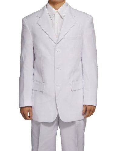 New Men's 3 Button Single Breasted White Dress Suit,56 Long