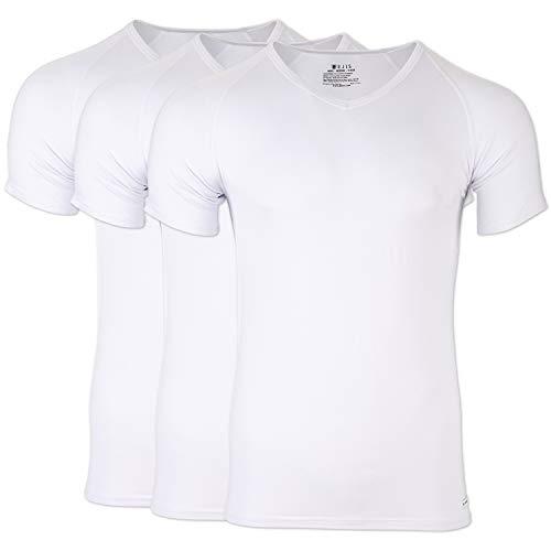 - Ejis Regular Men's Undershirts V Neck, Multi-Pack, Anti-Odor, Micro Modal (3 Pack, Small, White)