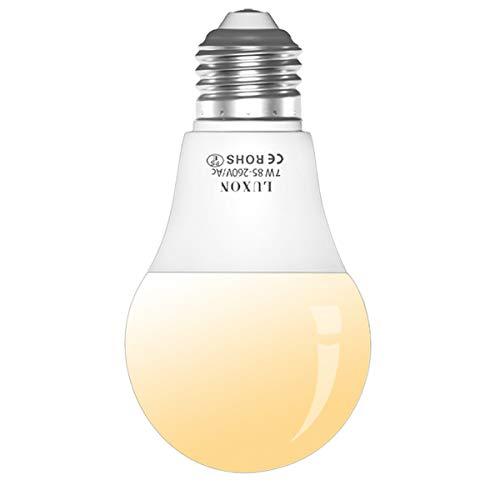 Motion Sensor Light Bulb 7W Radar Sensor Bulbs Dusk to Dawn E26 Medium Base Soft White 2700k LED Motion Activated Bulb Auto On/Off for Indoors Outdoors by LUXON