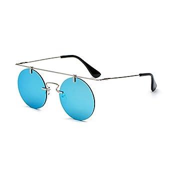 RZXTD Gafas De Sol Gafas De Sol, Gafas Redondas, Sin Montura ...