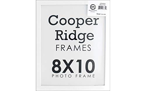 Easel Scrapbooking Frames - Sierra Pacific Crafts SPC Frame Wood w/Easel 8x10 White
