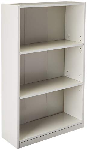 Furinno 14151R1WH 3-Shelf Bookcase 3-Tier White