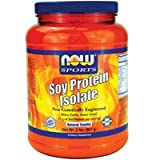 Now Foods Soy Protein Isolate (Natural Vanilla) - 2 lbs. 4 Pack