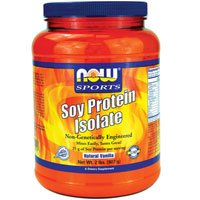 Now Foods Soy Protein Isolate (Natural Vanilla) - 2 lbs. 4 Pack by NOW Foods