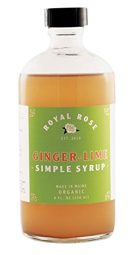 Royal Rose Ginger-Lime Simple Syrup 8oz