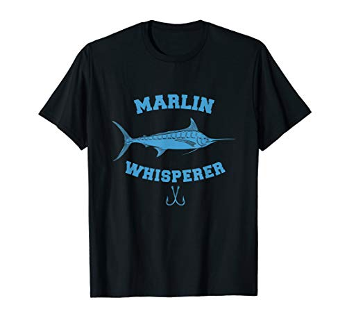 Marlin Whisperer Funny Deep Sea Fishing T-Shirt