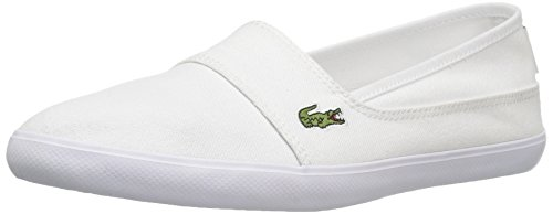 Lacoste Women's Marice Canvas Slip On, White Canvas, 6 M US