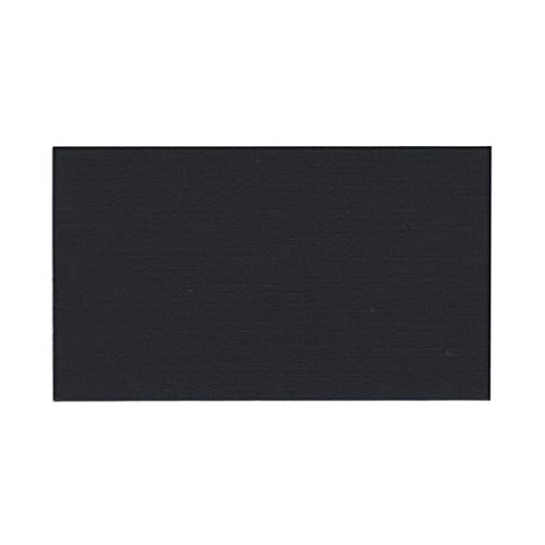 JAM PAPER Blank Flat Note Cards - 2 x 3 1/2 (Fits in 3Drug Envelopes) - Black - 500/Pack