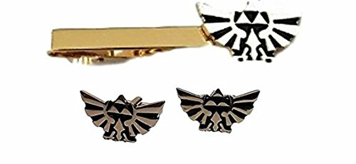 The Legend of Zelda Triforce Wings Goldtone Tie Clip & Cufflinks Set by New Horizons Production
