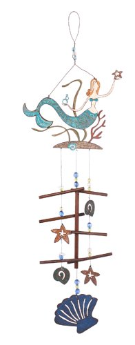 - Sunset Vista Designs Great Outdoor Land and Sea Collection Wind Chime - Mermaid
