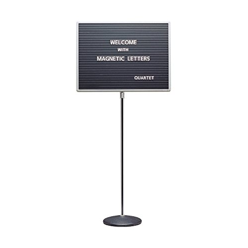 7920M Quartet Adjustable Standing Magnetic Letterboard - 16'' Height x 20'' Width - Gray Magnetic Surface by Quartet