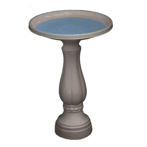 "Bloem Promo Bird Bath with Pedestal, 25"" x 17"", Peppercorn (270-60)"