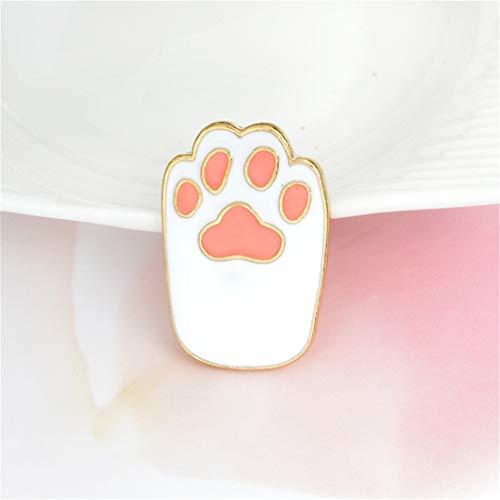 YouCY Children Brooch Creative Cute Cat Claw Dog Claw Drop Oil Cartoon Brooch Children Clothing Bag Decor Lapel Pins Badge Brooch,White (Claw Brooch)