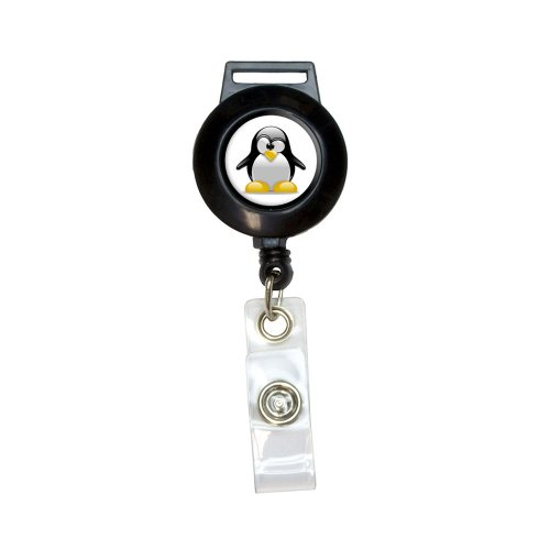 Penguin - Snow Bird Lanyard Retractable Reel Badge ID Card Holder