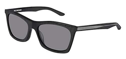 Balenciaga BB0006S Sunglasses 003 Grey/Silver Mirror Lens 54 mm