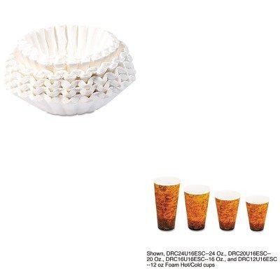 KITBUN1M5002DRC16U16ESC - Value Kit - Dart Foam Hot/Cold Cups (DRC16U16ESC) and Bunn Coffee Commercial Coffee Filters (BUN1M5002)