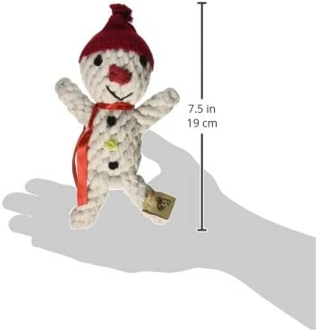 Jax and Bones Good Karma Holiday Rope Dog Toy, 6 Inch, Scott The Snowman