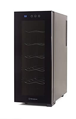 Westinghouse WWT060TB Thermal Electric 6 Bottle Wine Cellar with Touch Panel Adjustable Thermostat and Digital Read Out in Black, Black