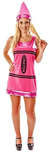 Women's Pink Crayon Halloween Costume -
