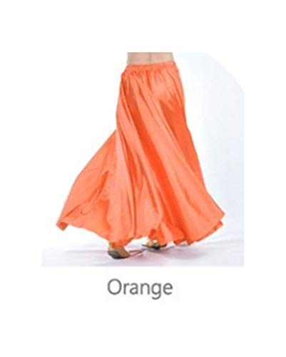 Chiffon Belly Dance Skirt for Women Belly Dancing Costume Gypsy Skirts,Gold,One Size -