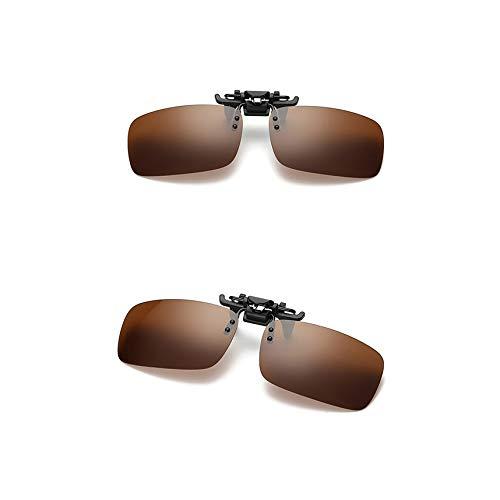 Miopía Gafas De De Nocturna Doble Uso Brass Visión De Conductor Noche Yellow De De Clip Gafas Gafas Día De Pesca Lentes Conducción De Clip De Sol La De Y Polarizador Gafas 7X1xPnqwT