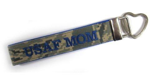 U.S. Air Force Mom Name Tape Key Chain, Air Force Mom Military Keychain, Air Force Mom Key Fob Air Force Key Ring