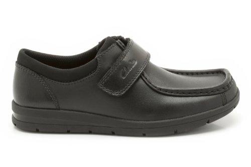 Clarks  SchoolRock Jnr, Jungen Stiefel Schwarz schwarz One Size Fits All, Schwarz - schwarz - Größe: 13.5 UK F