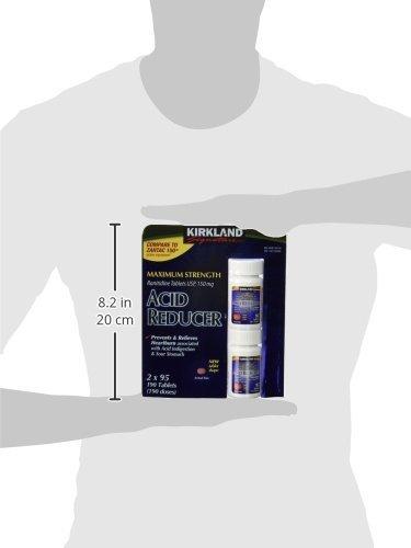 Maximum Srength Acid Reducer Ranitidine 150mg/95 Tablets-Compare to Zantac 150® (Pack of 2)