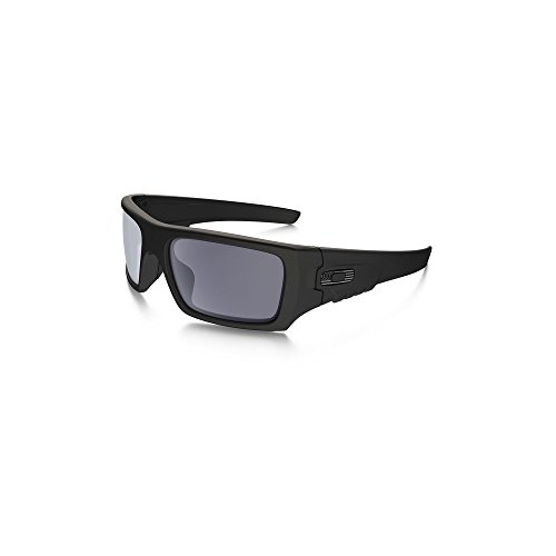 Oakley SI Ballistic Det Cord Tonal Flag, Matte Black Frame/Grey Lens - Oakley Cord Sunglasses