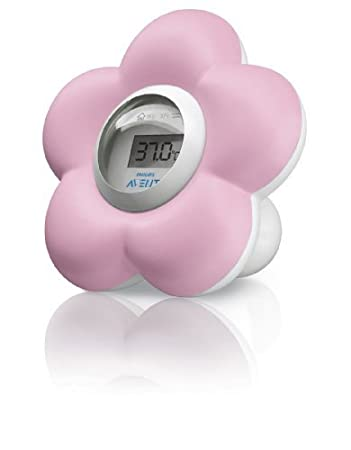 Philips Avent Digital Baby Bath and Room Thermometer Scf550/21 Pink Girls High Quality Best