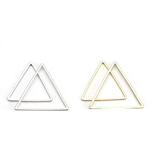 Monrocco 40Pcs Geometric Triangle Pendant Connector, DIY Handmade Triangle Earring Connector Charms Earring Dangle Jewelry - 20, -