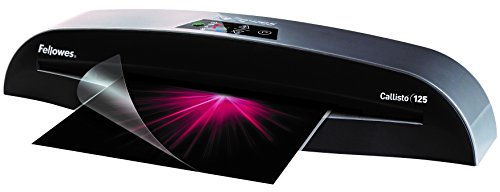 Fellowes Laminator Callisto 125, 12.5 Inch Laminating Machine, with Laminating Pouches Kit (5729101) by Fellowes