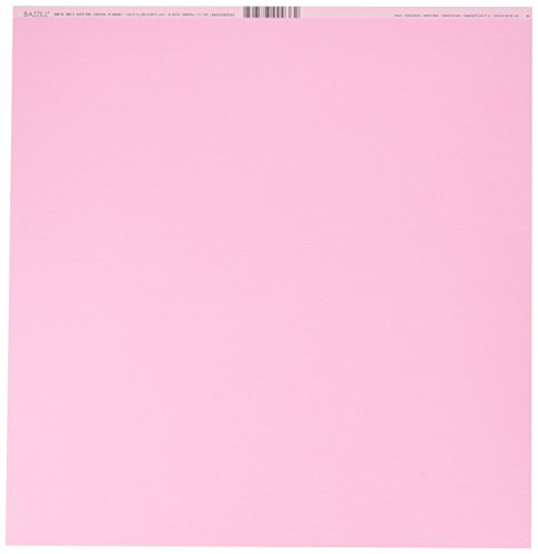 (Bazzill 300936 Cardstock Fussy Pink 12X12 80Lb Fours)