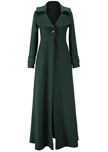 Mlange Laine Trenchcoat Fonc Bouton Brinny Classique en lgante avec Veste Longue Vert Femme Manteau Couleur 5 Chaud Parka Vintage Moulante de qxwgw7SFn6